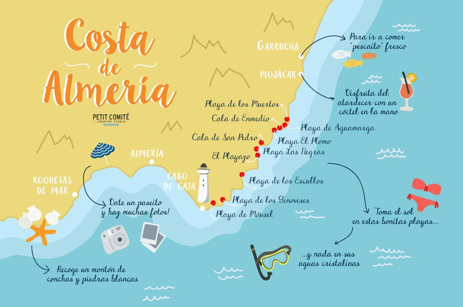 Costa Almeria Map costa almeria map | Spain Savvy