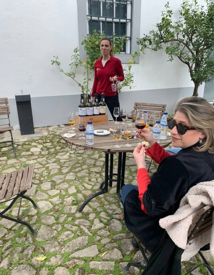 Sarah & Ana tasting Port wines in Douro Valley