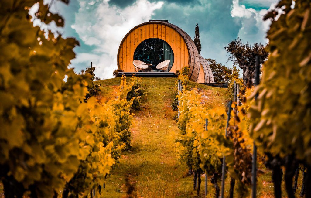 Wine barrel hotel in Douro Valley