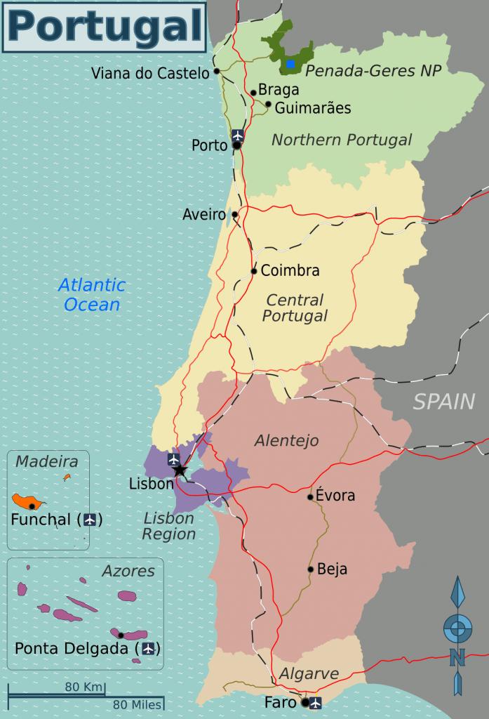 Portugal regional map